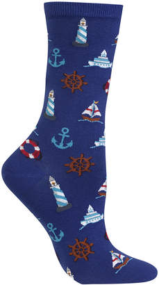 Hot Sox Women's Nautical Icons Crew Socks