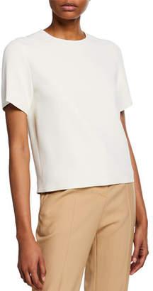 The Row Eve Crewneck Short-Sleeve Top