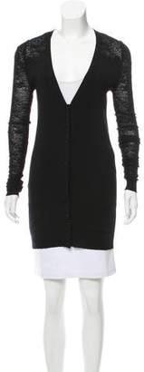 Balenciaga Longline Wool Cardigan