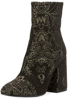 Ash Fedora Barocco Fabric Booties