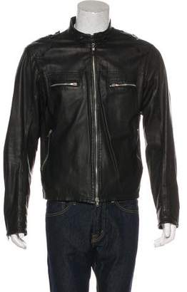 CNC Costume National Leather Biker Jacket