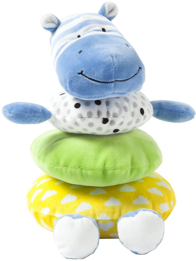 Giggle Soft Blue Hippo Stacker