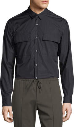 Vince Military Long-Sleeve Sport Shirt