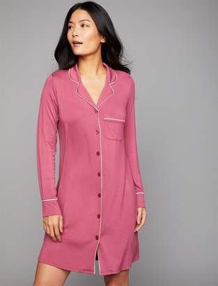 A Pea in the Pod Button Front Nursing Nightgown