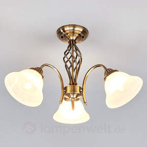 Altmessingfarbene Deckenlampe Mialina, 3fl.