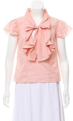 Marni Ruffled Short Sleeve Top