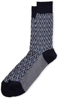 Missoni Large Zigzag Crew Socks