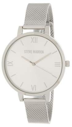 Steve Madden Women's Automatic Mesh Bracelet Watch, 43mm