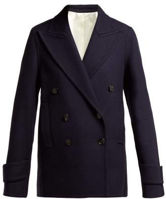 Joseph Optima Wool Blend Pea Coat - Womens - Navy