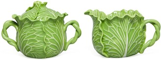 Tory Burch LETTUCE WARE LIDDED SUGAR POT & CREAMER