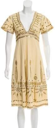 Temperley London Embellished A-Line Dress