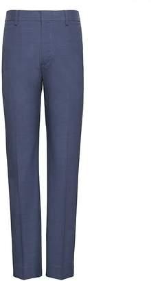 Banana Republic Slim Non-Iron Stretch Cotton Plaid Pant