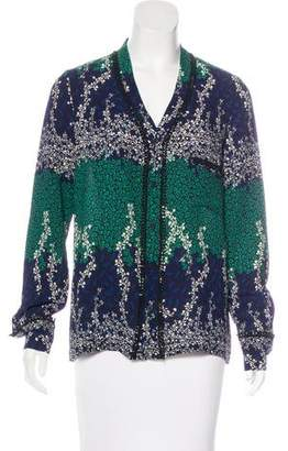 Yigal Azrouel Printed Button-Up Top