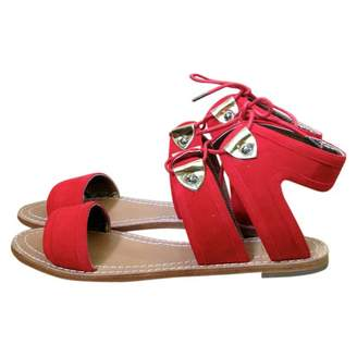 Cynthia Rowley Red Suede Sandals