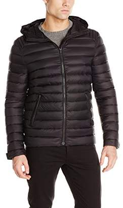 Soia & Kyo Men's Julius Quilted Lightweight Down Jacket with Hood