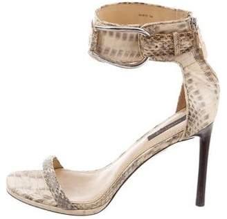 Rachel Zoe Python Ankle Strap Sandals
