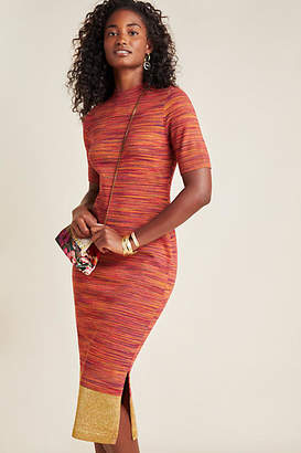 Maeve Lindy Mock Neck Knit Midi Dress