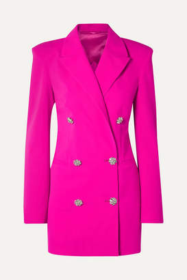 ATTICO Double-breasted Wool-blend Crepe Mini Dress - Fuchsia
