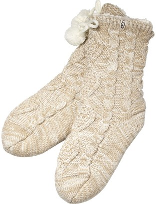 UGG Pom Pom Fleece Lined Crew Sock - Women's