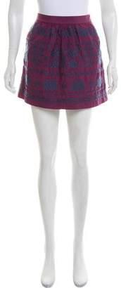 Tibi Embroidered Mini Skirt