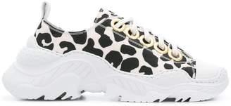 No.21 leopard print sneakers