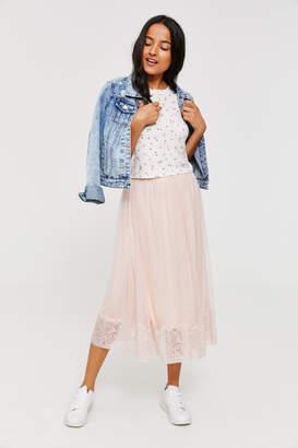Ardene Mesh Lace Maxi Skirt