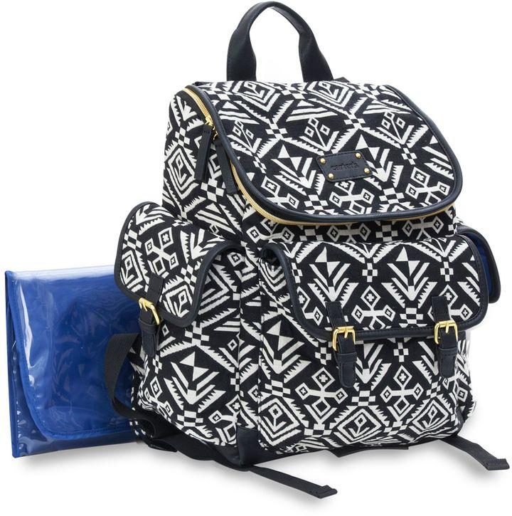 Carter'scarter's® Baby Go Aztec Backpack Diaper Bag in Black/White