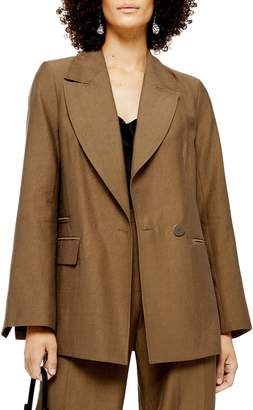 Topshop Raw Edge Blazer Jacket