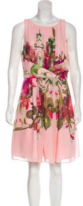 Ted Baker Floral Print Knee-Length Dress w/ Tags