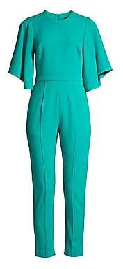 Black Halo Women's Milla Butterfly Sleeve Pintuck Jumpsuit - Size 0