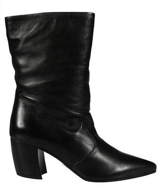 Prada Pointed Toe Ankle Boots