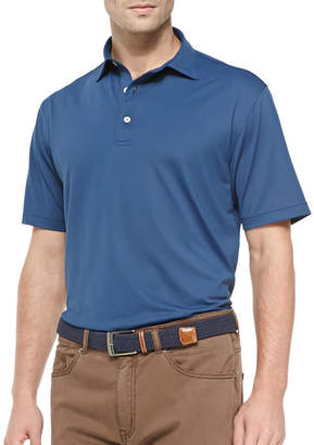 Peter Millar Basic Short-Sleeve Mesh Polo Shirt, Black