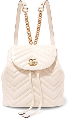 Gucci Gg Marmont Quilted Leather Backpack - White