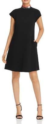 Giorgio Armani Sequined-Collar A-Line Dress