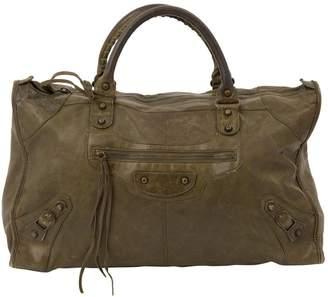 Balenciaga Weekender leather bag