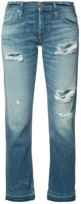 NSF ripped cropped jeans