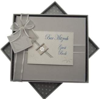White Cotton Cards white cotton cards Bar Mitzvah Guest Book Jewish Gift (Boys)