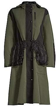 Sandy Liang Sandy Liang Women's Peplum Lace Hooded Jacket