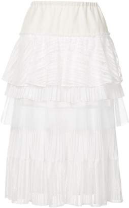Gauchère tiered midi skirt