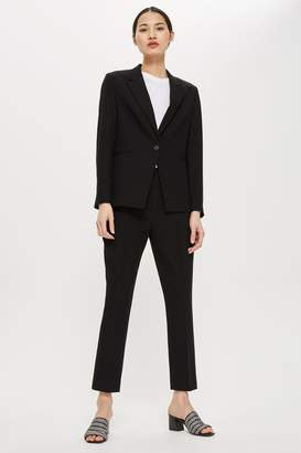 Topshop Womens Tailored Suit Trousers - Black