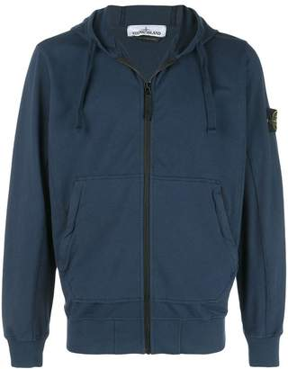 Stone Island hooded zip-up jacket