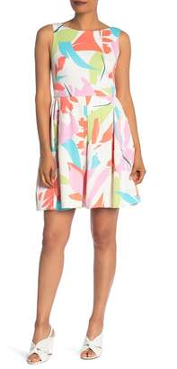 Taylor Printed Scuba Fit & Flare Dress