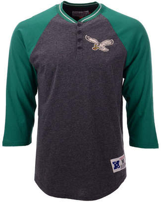 Mitchell & Ness Men's Philadelphia Eagles Four Button Henley T-Shirt