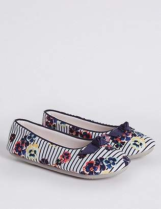 Marks and Spencer Floral Print Ballerina Slippers