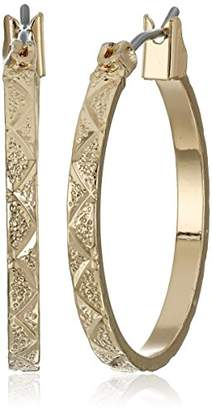 Napier Classics -Tone Small Cable Wire Hoop Earrings