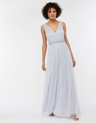 Elyse Embellished Tulle Maxi Bridesmaid Dress