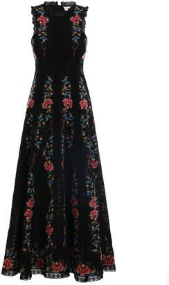 Zimmermann Laelia Cross Stitch Long Dress