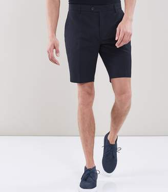 Reiss CHILWA S TAILORED LINEN SHORTS Navy