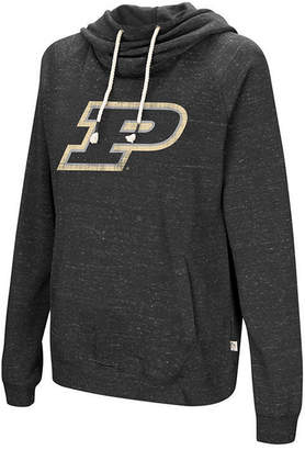 Colosseum Women Purdue Boilermakers Speckled Fleece Hooded Sweatshirt