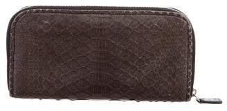 Zagliani Leather Zip-Around Wallet